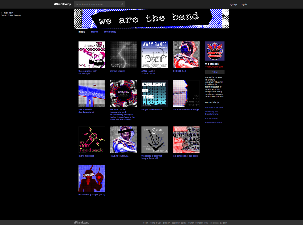 The Garages Bandcamp Page